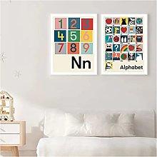 zkpzk Cartoon Opq Alphabet Image Fruits Poster