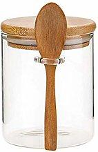 ZLEW Food Storage Glass Jar With Lid And Spoon,