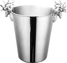 ZLHW 3L Ice Bucket Stainless Steel Wine Ice Bucket