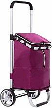 ZLHW Foldable Shopping Trolley Bag on Wheels Push