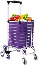 ZLININ Y-longhair Folding Trolley Shopping Cart