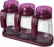 ZLJ Spice Box Glass Spice Jar Set Kitchen