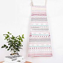 Zljljlj Geometric Yellow Cotton Linen Apron Woman