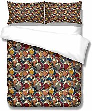 ZLLM Baby Quilt Cover Set,Brown Shell 220 X 230 Cm