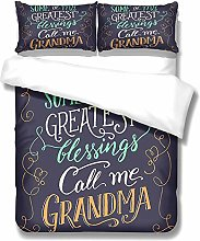 ZLLM Baby Quilt Cover Set,White Letters 220 X 230