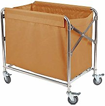 ZLP Folding Hotel Laundry Sorter Cart Linen