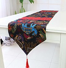 ZLP Linen Folk Table Banner Dust Cover Triangle