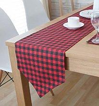 ZLP Linen Lattice Table Flag Home Decoration