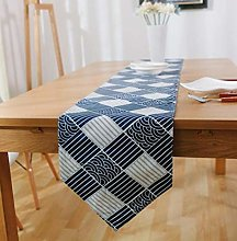 ZLP Simple Solid Color Linen Table Flag Desk Cover