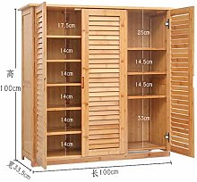 ZLP Wooden Shoe Cabinet Bamboo Shoe Rack Solid