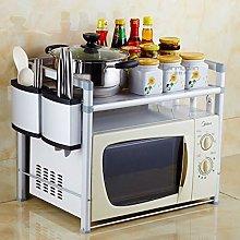 ZLSP Kitchen Microwave oven rack storage shelves,2