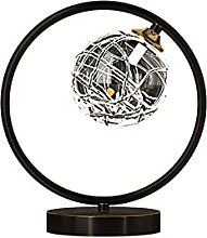 zlw-shop Bedside Lamp Industrial Desk Lamp Round
