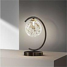 zlw-shop Bedside Lamp Metal Table Desk Lamp Glass