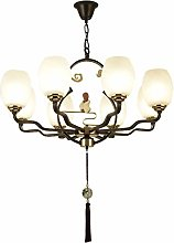 zlw-shop Chandelier Chinese Zen Chandelier Living
