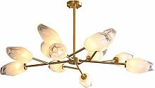 zlw-shop Chandelier Lightweight Luxury Copper