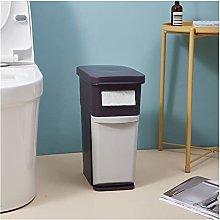 zlw-shop trash can 2 Layer Home Storage Bucket