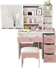zlw-shop Vanity Desk Wood Makeup Vanity Table with