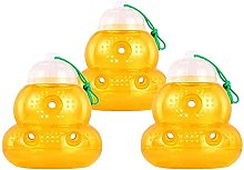 ZLYP 3 Pack Wasp Trap For Hornet Bees Yellow