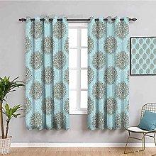 ZLYYH Pencil Pleat Curtains Fashion geometric