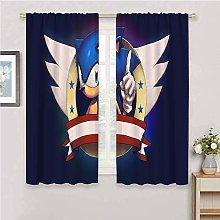 Zmcongz Curtain panels sonic curtains kids bedroom