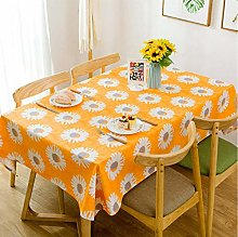 Zmdnl Sun Flower Print Table Cloth Cotton Thick