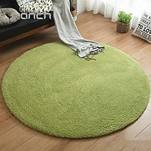 ZMIN Round Thickened Shaggy Rug, Fluffy Plush Are