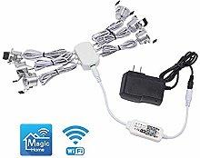ZMISHIBO Silver 6 Packs Mini Recessed Led Lights,