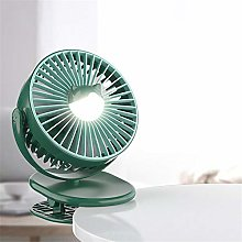 ZMXZMQ Clip-On Fan, Rechargeable Battery Operated