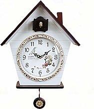 ZMXZMQ Quartz Cuckoo Clock, Black Forest House,