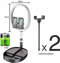 ZMXZMQ USB LED Desk Camera Ringlight with Foldable