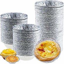 ZNEU Egg Tart Mould Disposable Aluminum Cup Baking
