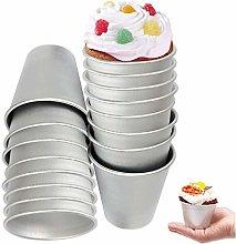 ZNEU Pudding Mold 16 PCS Baking Nonstick Dariole