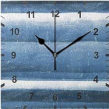 ZNMY Non Ticking Silent Wall Clock,Navy Blue