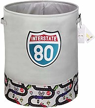 Znvmi Collapsible Laundry Basket Large Fabric Kids