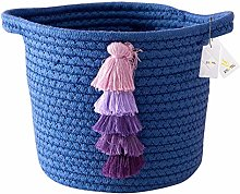 Znvmi Cotton Rope Basket Collapsible Small Storage
