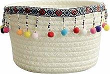 Znvmi Cotton Rope Basket Small Woven Storage Box