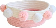 Znvmi Cotton Rope Small Storage Basket Soft Baby