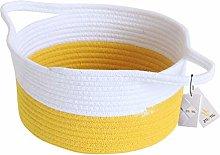 Znvmi Cotton Rope Storage Basket Natural Woven