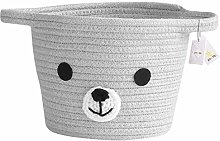 Znvmi Cute Cotton Rope Basket Foldable Small