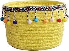 Znvmi Decorative Cotton Rope Basket Small