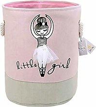 Znvmi Girls Laundry Basket Large Foldable Washing
