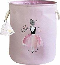 Znvmi Large Canvas Storage Basket Girls Laundry