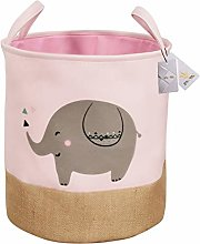 Znvmi Large Collapsible Laundry Basket Fabric Baby