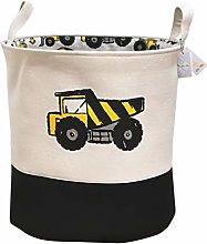 Znvmi Nursery Oval Storage Basket Fabric Toy Chest