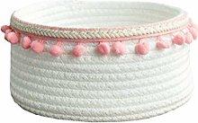 Znvmi Small Cotton Rope Basket Cute Woven Storage