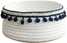 Znvmi Small Cotton Rope Basket Cute Woven Storage