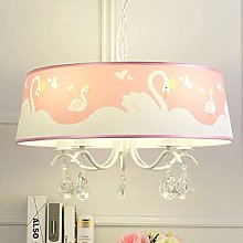 ZNWEATCZ Pink Chandelier, Pink Lamp for Girls