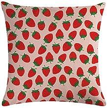 ZNZT Pillow Covers Printed Fruit Pillowcase Linen