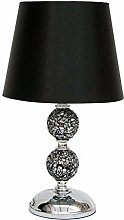 Zoe Black Crackle Mosaic and Silver Light Shade