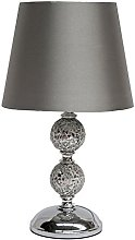 Zoe Grey Crackle Mosaic and Silver Light Shade